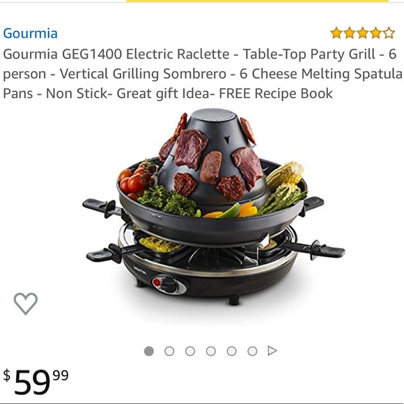 Gourmia party grill & raclette